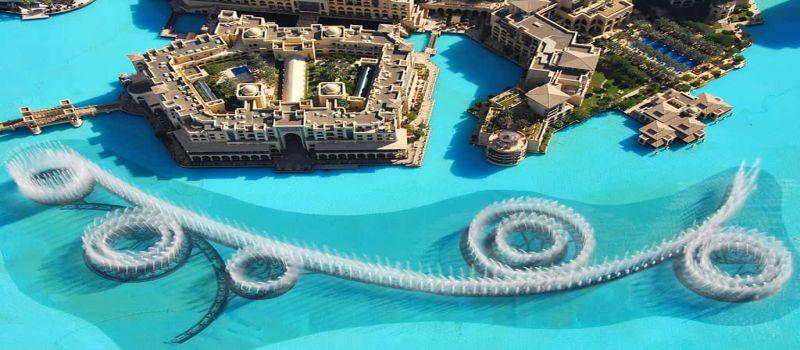 رقص آب در فواره های دبی