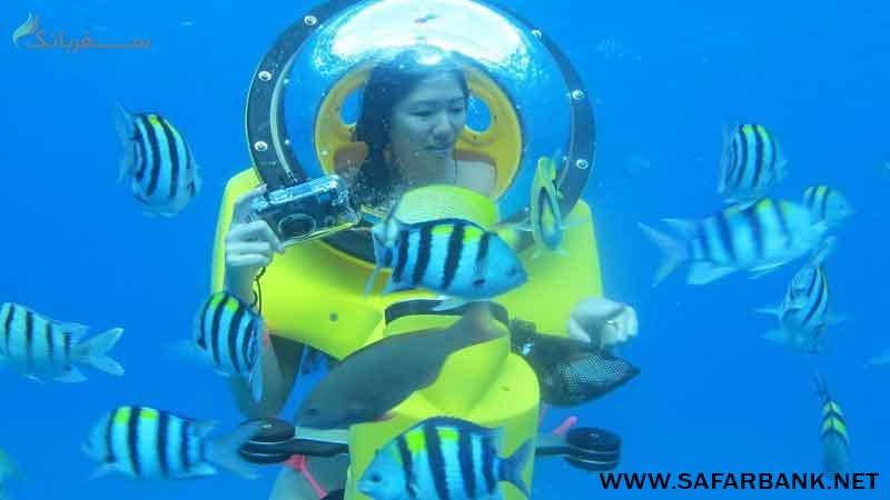 اسکوتر زیر دریایی در قشم
